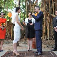 Lani and Dan, Fig Tree, Cairns Botanical Gardens,  Cairns Marriage Celebrant, Melanie Serafin