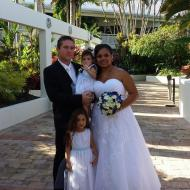 Clarissa and Jeff, and the girls, Shangri-La, March 2014, Cairns Civil Marriage Celebrant, Melanie Serafin