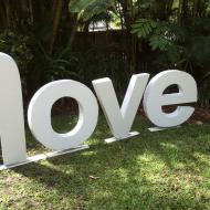 Love - sign at Peppers Palm Cove, Cairns Marriage Celebrant, Melanie Serafin
