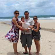 Simon and Sarah's Baby Naming, December 2011, Cairns Civil Celebrant Melanie Serafin
