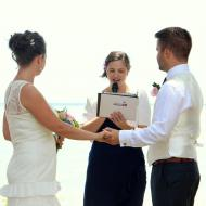 Harry and Sophie, Clifton Beach Wedding, October 2014, Cairns Civil Marriage Celebrant, Melanie Serafin