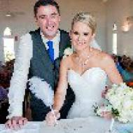Kylie and Jason Signing! October 2013, St Mary's By The Sea, Cairns Civil Marriage Celebrant, Melanie Serafin